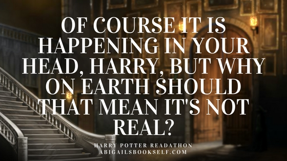 Of course it is happening in your head, Harry but why on earth should that mean it's not reaL?